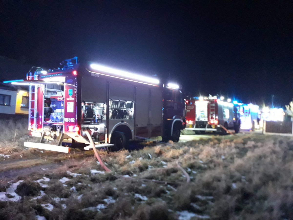 pożar domku w Kalnej