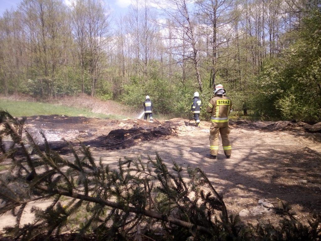 Strażacy ugaszają pożar